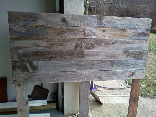 barn board headboard