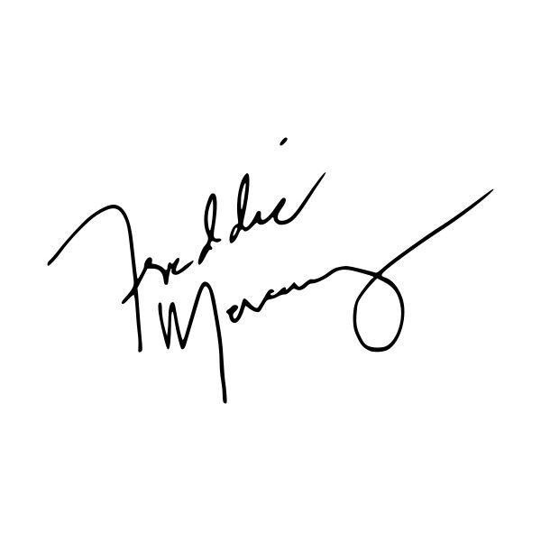 File Freddie Mercury signature.svg ❤ liked on Polyvore featuring text, words, quotes, autograph, magazine, filler, phrase and saying