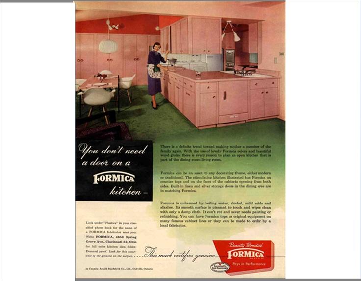 Vintage ad - pink kitchen. #vintage #retro #ad #kitchen #interiordesign