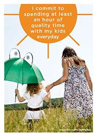 I commit to spending at least an hour of quality time with my kids today @BupaAustralia