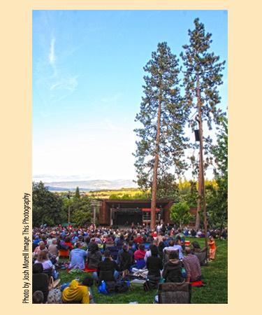 Fave outdoor concert venue in Jacksonville, Oregon -- Britt Festival.