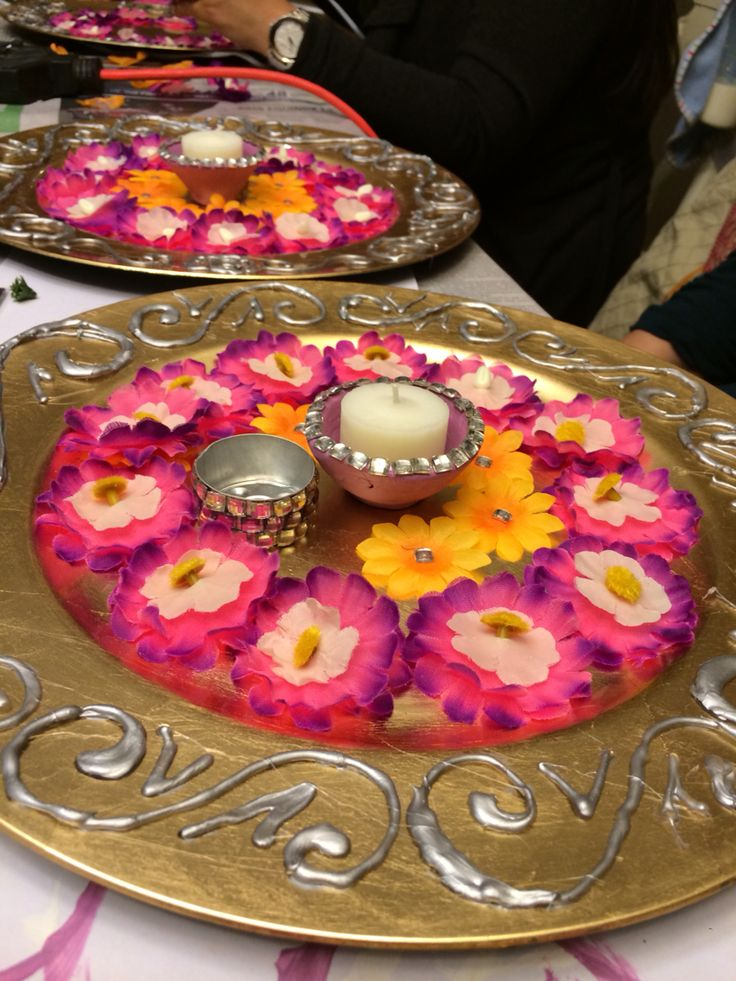 12 best mehndi plates images on pinterest dish dishes for Home decorations for indian wedding