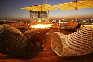 Roof top fire - Sandton Sun Hotel.  Quote and book http://www.south-african-hotels.com/hotels/sandton-sun-hotel/