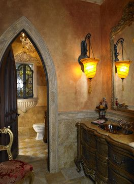Old World Bathroom by Tampa Home Builders Alvarez Homes (813) 701-3299 - mediterranean - bathroom - tampa - Alvarez Homes