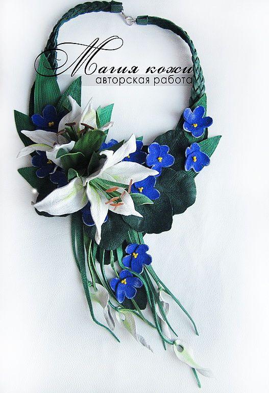 Beautiful leather jewelry by Svetlana Hramovskih | Beads Magic