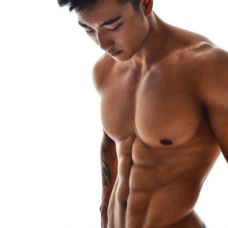 Sexy asian male model