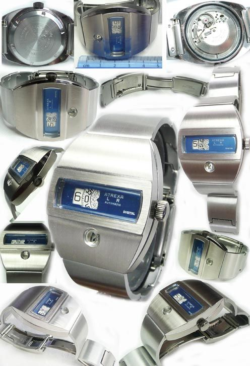 DIGITAL DIRECT TIME WATCHES AND WATCH REPAIRS-  REF RETALTREXAXX6 £575  A stunning & high quality, DIGITAL wristwatch with calander and selfwinding. its solid stainsless steel and is un-worn. what an amazing design!! very solid and attractive make no mistake this is of the highest quality.