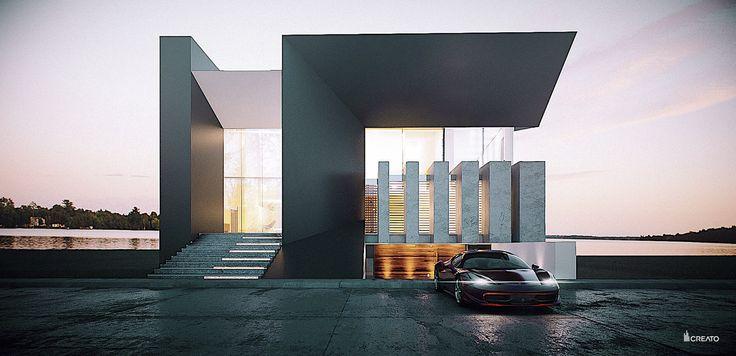 CASA DEKO BY CREATO  #architecture #design #concrete #minimal #contemporary #lifestyle #mexico #luxury #project #facades #mansion #amazingarchitecture #top #uae