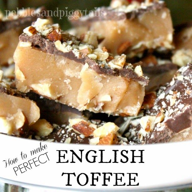 Pebbles and Piggytails: Making Life Meaningful: Perfect English Toffee Tutorial. This toffee is my favorite for Christmas and even a special Valentines Day treat.