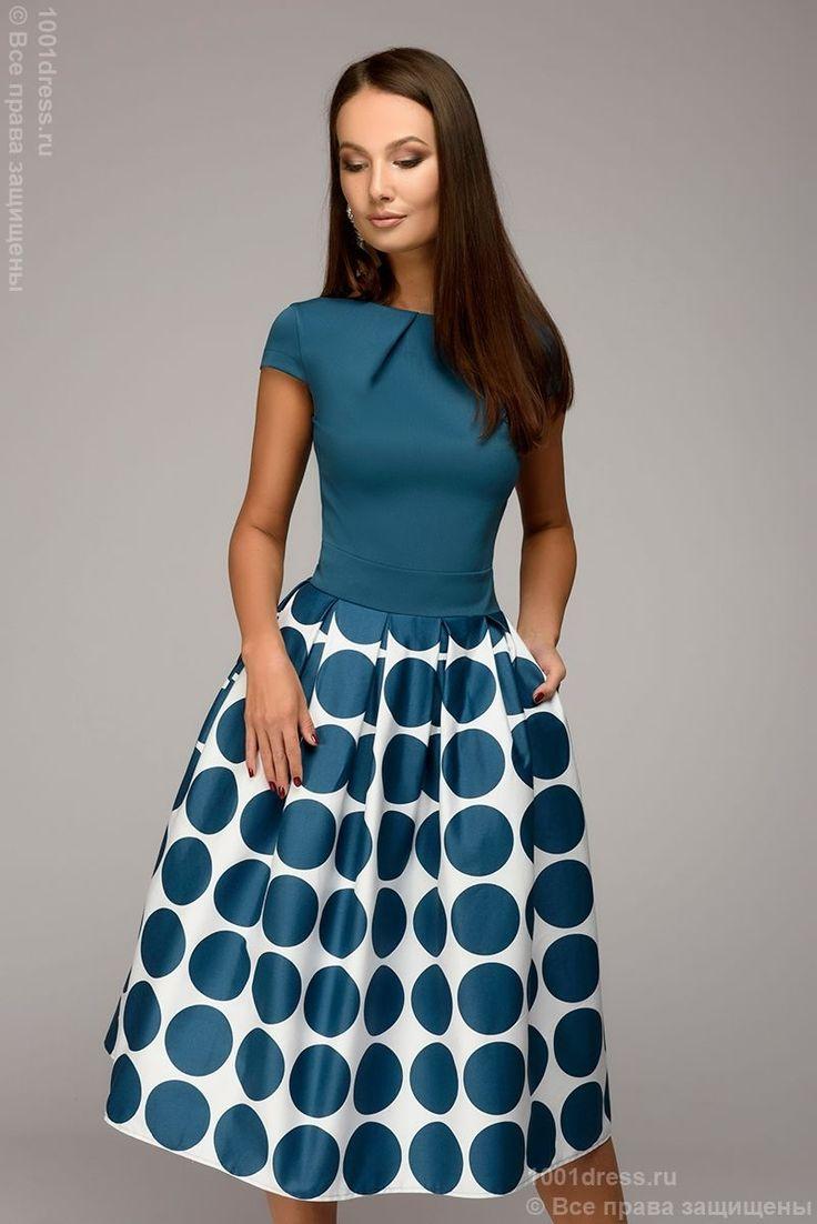 Платье бирюзовое длины миди 1001DRESS