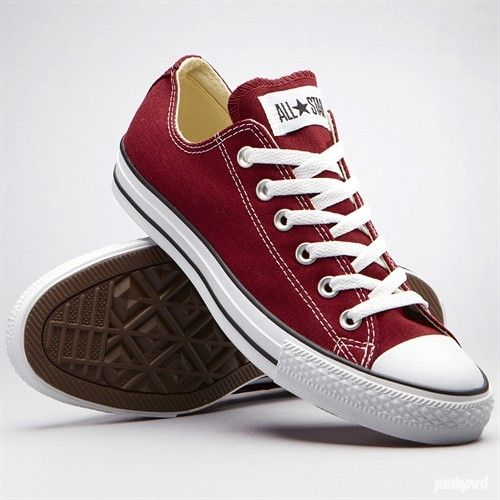 Converse, maroon    Oh to have these in hightops again....