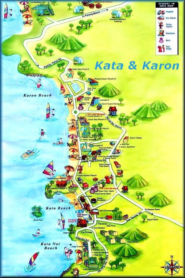 kata noi map phuket