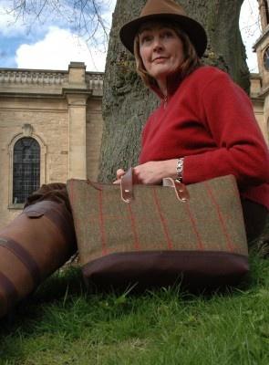 A tweed handbag by Emma Cornes in Gelly Tweed