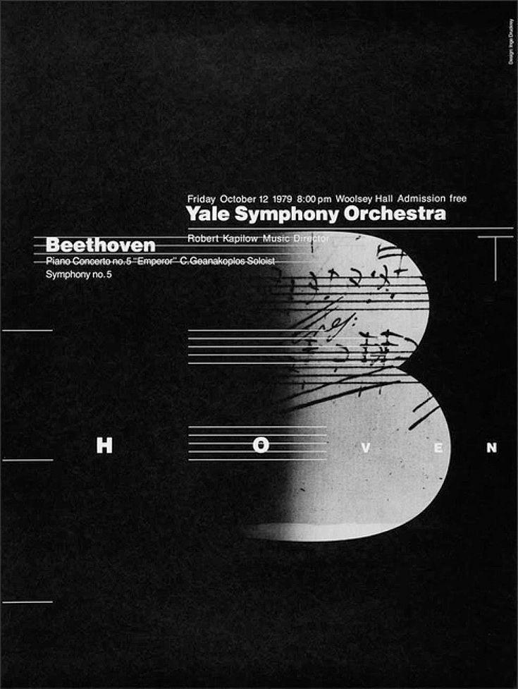 #Beethoven Poster Designed by Inge Druckrey