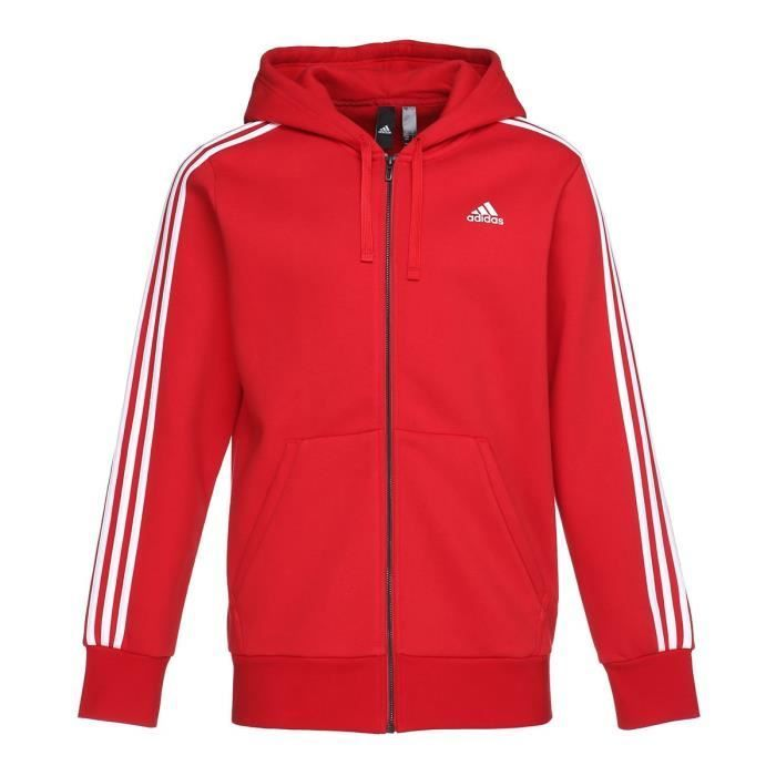 adidas sweat rouge homme
