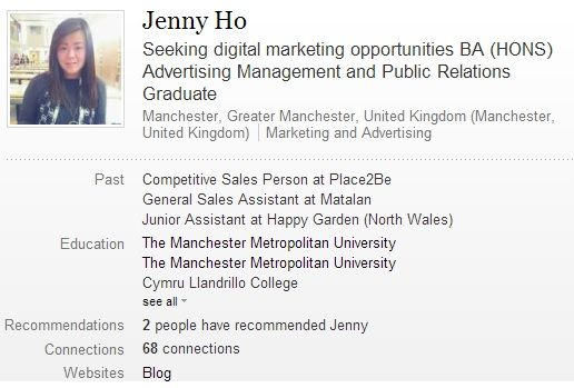 Add me on LinkedIn to see my professional background and full CV - uk.linkedin.com/in/hellojennyho/