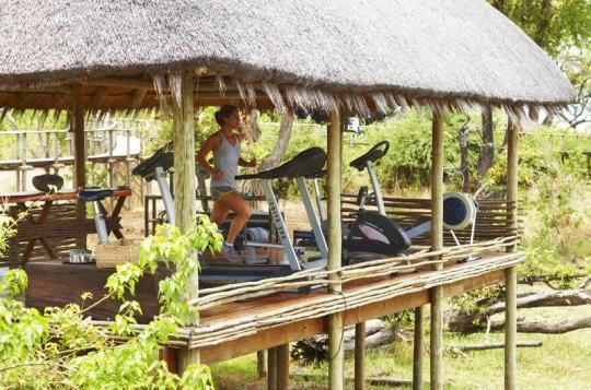 A little workout after a game drive? No problem at Mombo Camp (Okavango Delta, Botswana). Any questions: info@gondwanatoursandsafaris.com - we reply within 24h!