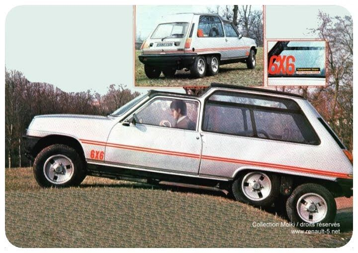 Renault 5 6x6 6x6 in the world