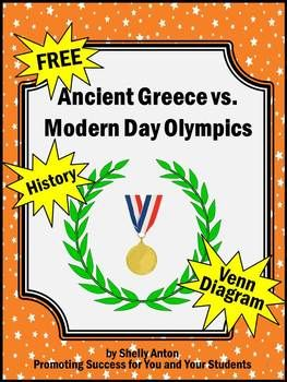 Ancient Greece:  Here are 8 FREE research questions, along with a Venn diagram, to help students compare Ancient Greece Olympic sports with modern day Olympics.  The questions may be answered through student research or an online video (link provided).