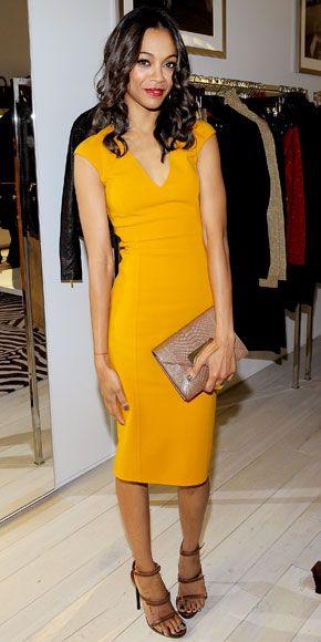 Yellow. Michael Kors. I like that I could also wear this to work. Hooray for conservative fashion in Hollywood....