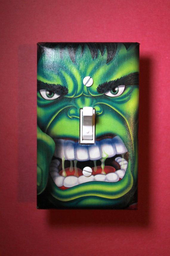 The Incredible Hulk Light Switch Plate Cover by ComicRecycled, $7.99