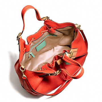 Soft Pebbled Leather Drawstring Xl Shoulder Bag 56