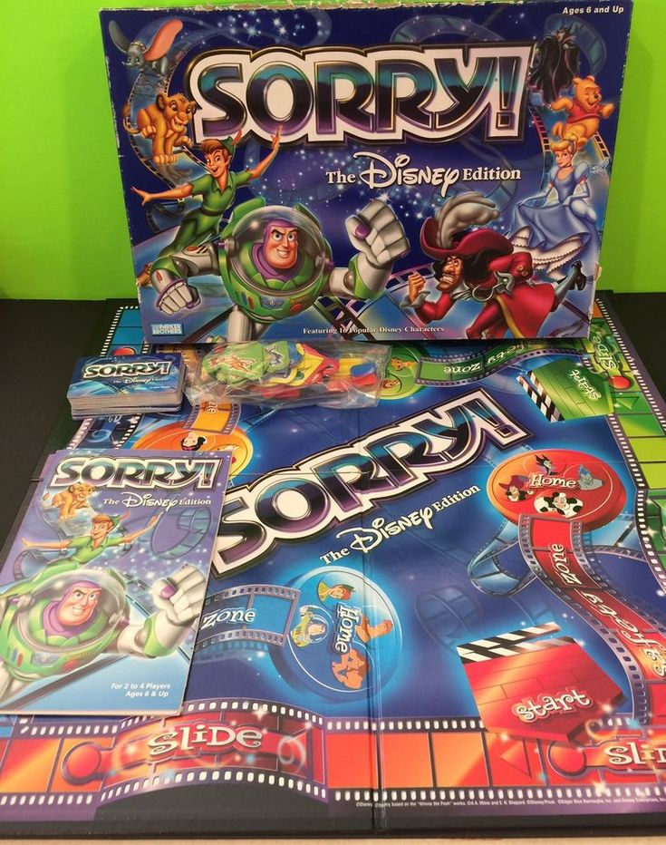 Disney Edition SORRY Board Game Hasbro 2001  | eBay