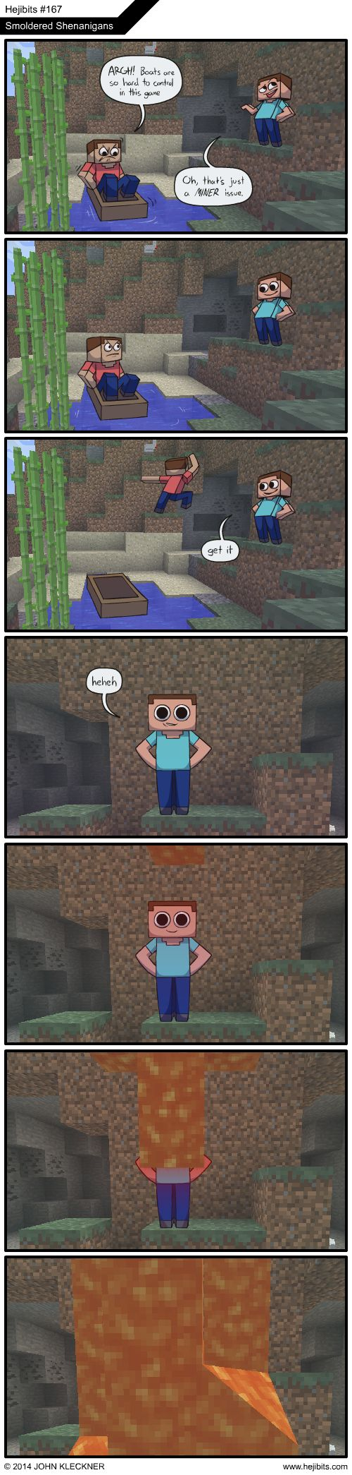 Just a MINER issue.. (I love the guy in the boat's face in the second panel XD)
