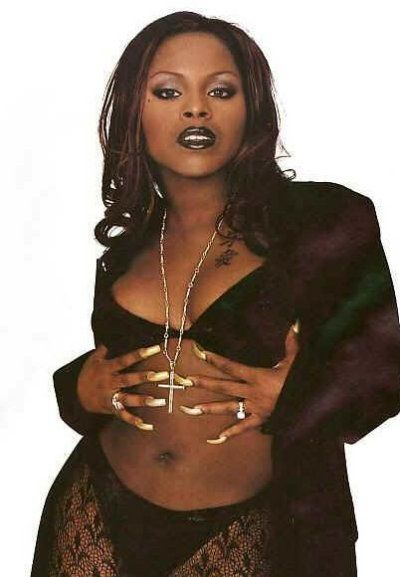 from Tristen rapper foxy brown in see through
