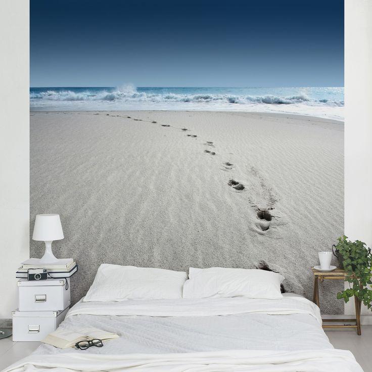 Perfect  uac Vliestapete Spuren im Sand Fototapete Quadrat