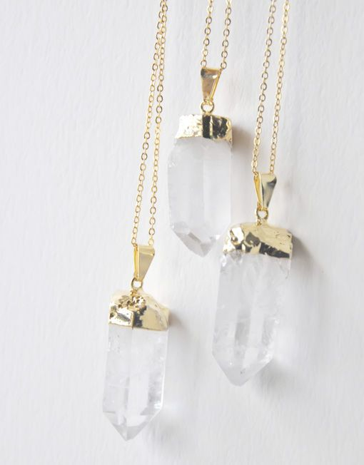 25€ - QUARTZ GOLD NECKLACE | SRTALAURIS, jewelry&design