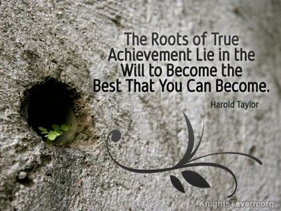 """""""The roots of true achievement lie in the will to become the best that you can become."""" -Harold Taylor inspirational quote desktop wallpaper (click to download)"""