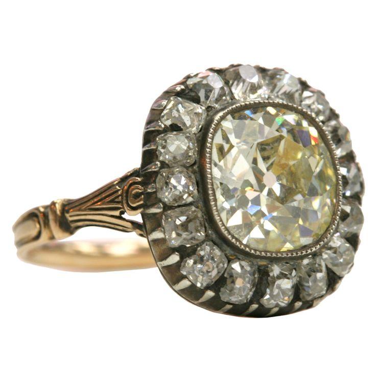 Cushion Cut Surround Diamond Ring
