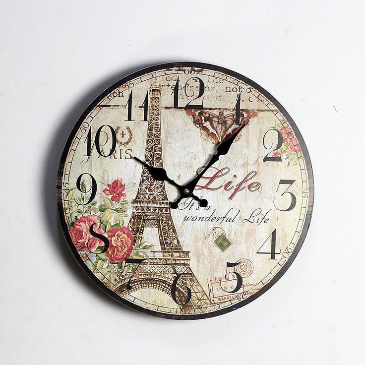 17 mejores ideas sobre relojes de pared de la cocina en for Reloj pared retro