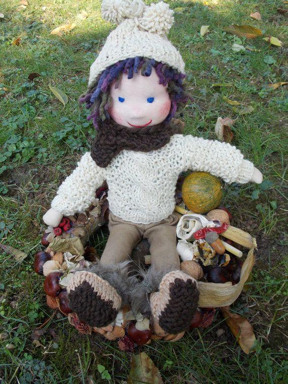 Waldorf doll waldorf inspired doll steiner doll doll by PannaDolls