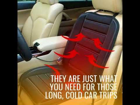 Awesome Winter Car Seat Warmer 12V Seat Cover Cold Days Heated Seat ! – TrendingAge