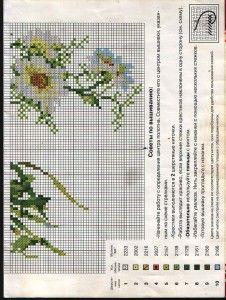 Вышивка ромашки крестом: примеры схем