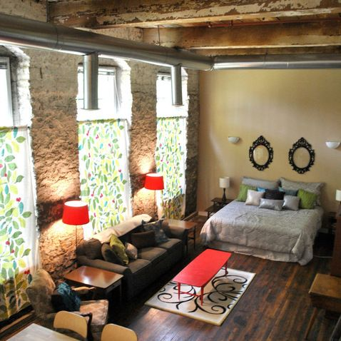 Vintage Studio Apartment Design Beautiful Bones Loft Our Window Treatments Would Look Great On Those