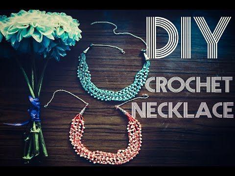 Вязаное ожерелье / DIY Crochet Necklace - YouTube