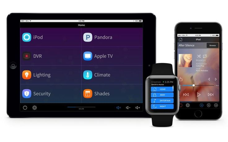 Crestron combines the power of home automation with popular wearable technology devices.