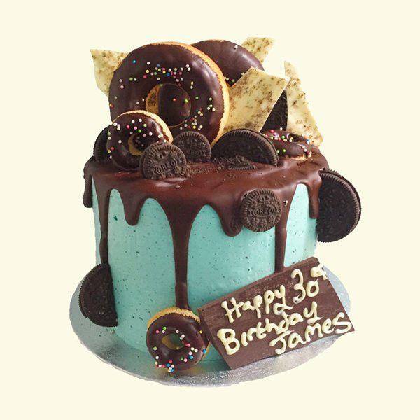 Blue Boy's Birthday Cake
