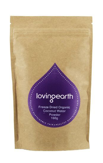 Coconut Water Powder - to stay hydrated on the long plane trip! #lovingearth #organic