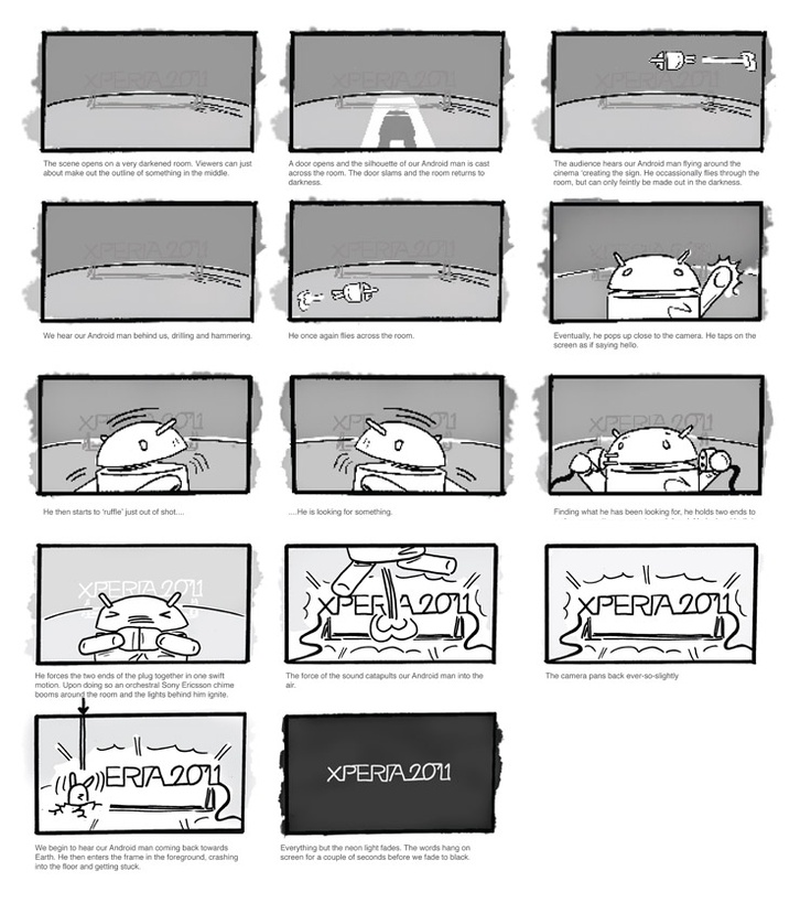 griffinabox - Cinema Nights animation for Sony Ericsson #storyboard #scamp #animation