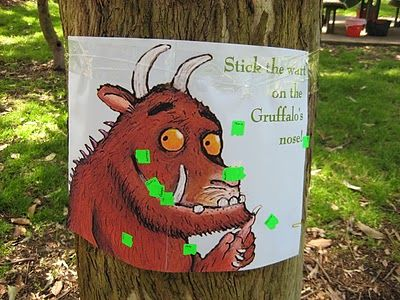 stick the wart on the gruffalo's nose