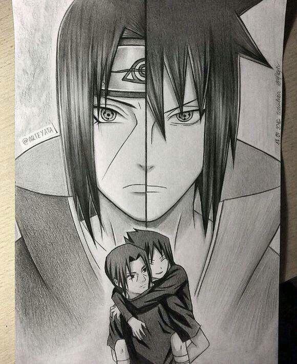 Itachi and sasuke hand drawing  By Arteyata #minato #naruto #cosplay #anime #cosplayclass