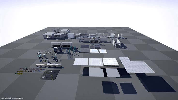 Modular Sci-Fi Hospital by Shotgun games in Environments - UE4 Marketplace