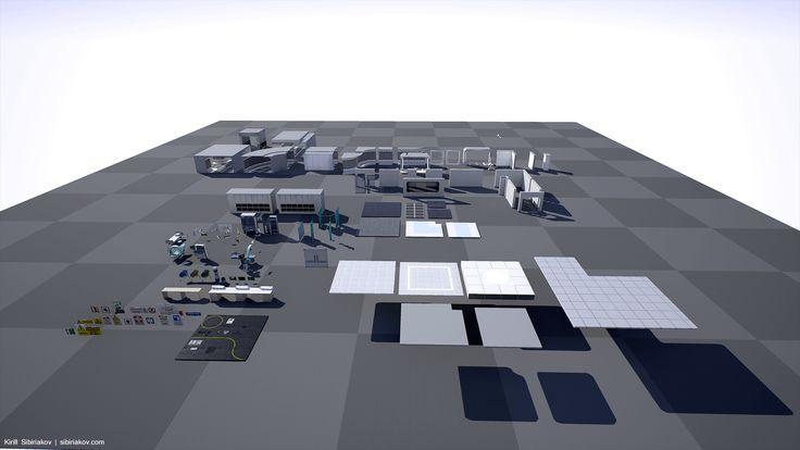 Modular Sci-Fi Hospital by Shotgun games in Environments - UE4 Marketplace