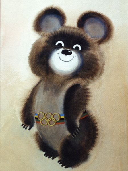 normal olympics mascot. and cute too!: Sports Mascot, Москва 1980, Misha 1980, Olympics Mascot, Normal Olympics, Misha Olympics
