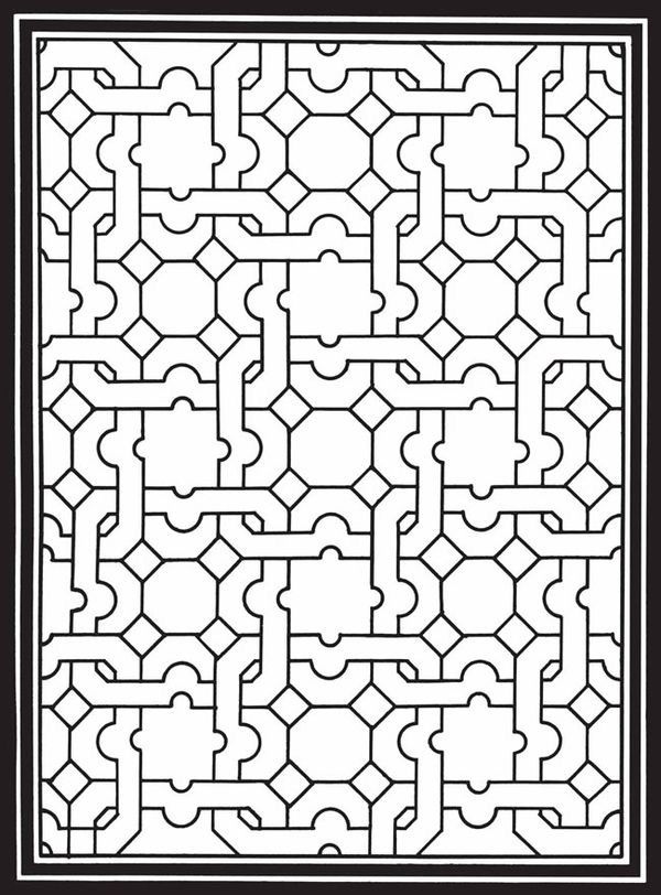 From Geometric Genius Stained Glass Coloring Book Pages For Adults