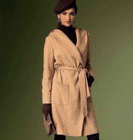Vogue 9069, Misses' Coat and Belt
